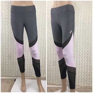Pink And Gray Yoga Pants Fitnesses Gym Legging S/P